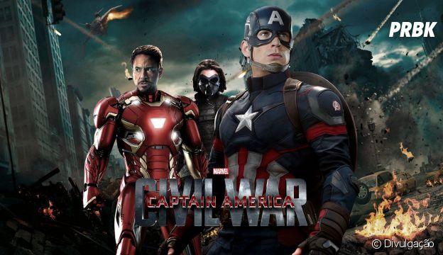 """""""Capitão América: Guerra Civil"""" marcou a separação dos Vingadores em dois times"""
