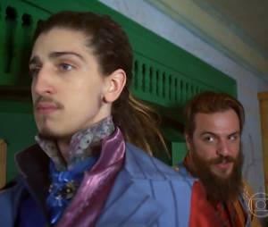 """Nando (Johnny Massaro) vai perder o apoio de Pedro Falcão (Rodrigo Lombardi) em """"Meu Pedacinho de Chão"""""""
