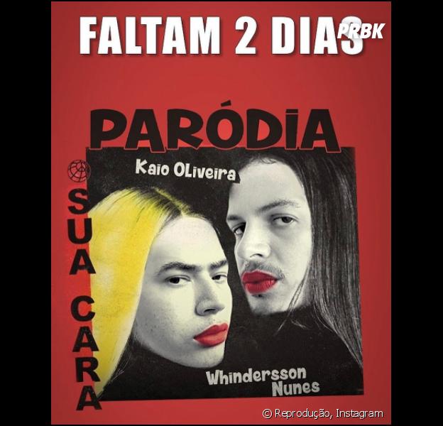 """Whindersson Nunes publica foto da paródia de """"Sua Cara"""", música da Anitta, Pabllo Vittar e Major Lazer"""