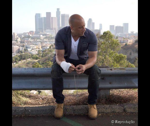 """Vin Diesel é o astro principal da franquia """"Velozes e Furiosos"""""""