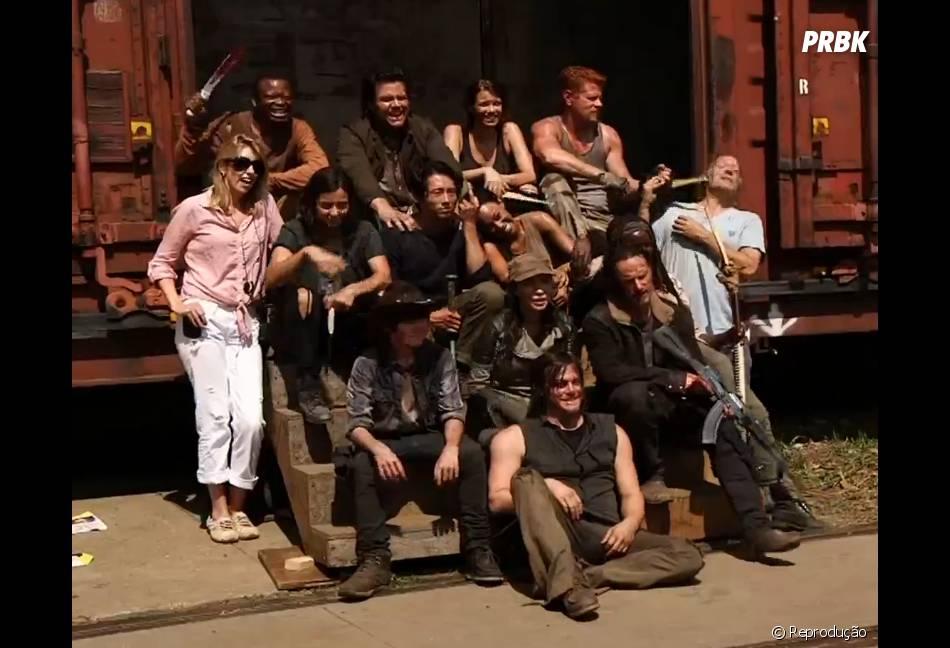 """O elenco de """"The Walking Dead"""" reunido!"""