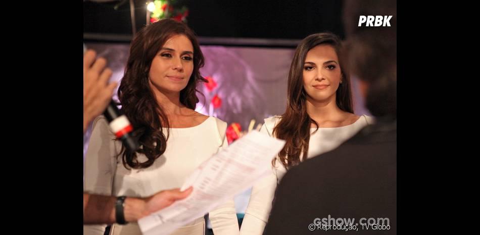 """Nos bastidores de """"Em Família"""",Giovanna Antonelli e Tainá Müller ensaiam para o casamento de Clara e Marina"""