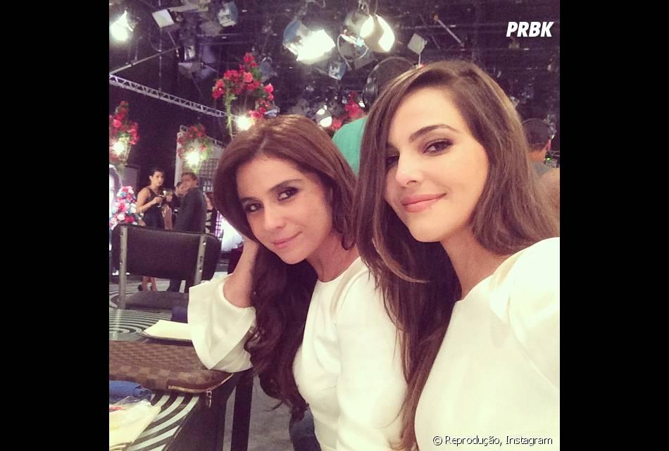 Giovanna Antonelli posta selfie com Tainá Müller no Instagram