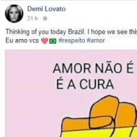 Demi Lovato defende homossexuais após decisão polêmica da justiça brasileira! Entenda