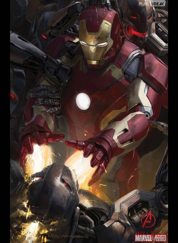 """Arte conceitual de """"Os Vingadores 2"""" mostra detalhe do Homem de Ferro"""
