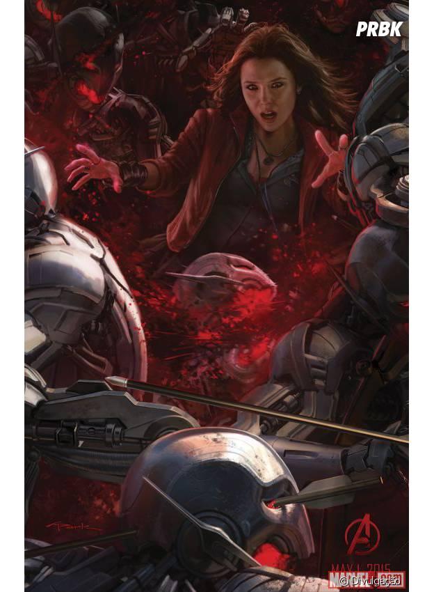 """Feiticeira Escarlate enfrenta exército de Ultrons em arte conceitual de """"Os Vingadores 2"""""""
