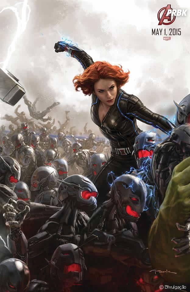 """Viúva Negra (Scarlett Johansson) em arte de """"Os Vingadores 2"""""""