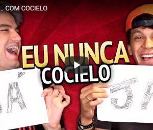 "Felipe Neto brinca de ""Eu Nunca"" com Julio Cocielo"