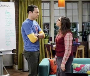 "Em ""The Big Bang Theory"", Sheldon (Jim Parsons) e Amy (Mayin Bialik) organizam casamento"