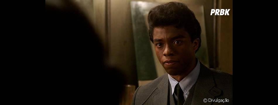 "Chadwick Boseman interpreta o músico James Brown na cinebiografia ""Get on up"""