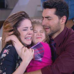 """Novela """"Carinha de Anjo"""": Dulce Maria (Lorena Queiroz) volta para casa após tentativa de sequestro"""