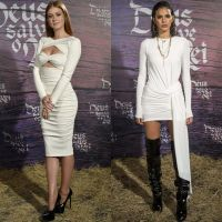 """Marina Ruy Barbosa e Bruna Marquezine lançam """"Deus Salve o Rei"""" com looks brancos. Vote no melhor!"""