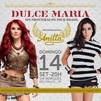 Dulce Maria convida Anitta para gravação de show em São Paulo