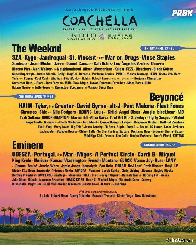 Beyoncé, The Weeknd e Eminem: programação completa do Coachella é liberada!