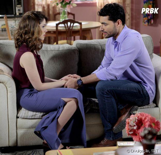 """Em """"Carinha de Anjo"""", Cecília (Bia Arantes) questiona Gustavo (Carlo Porto) sobre casamento"""