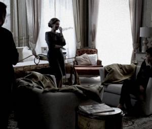 """Em """"O Rebu"""", Duda (Sophie Charlotte) é interrogada sobre Bruno (Daniel Oliveira)"""
