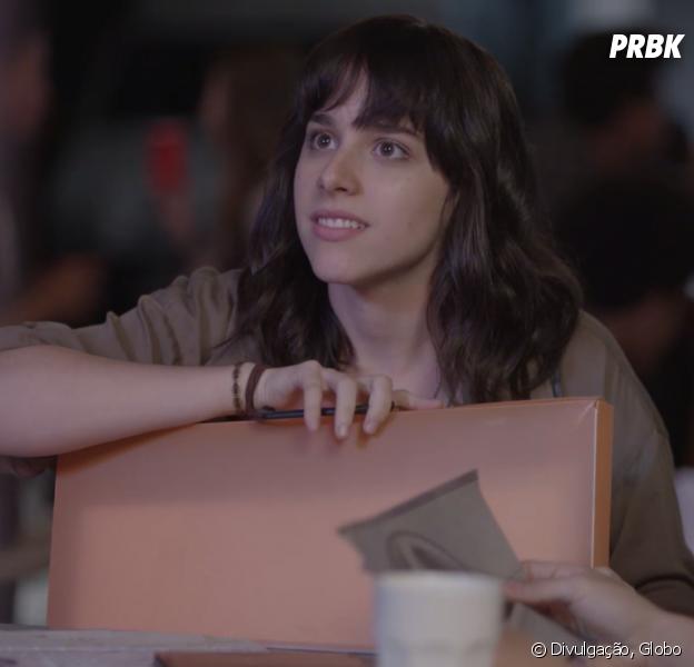 """Em """"Malhação"""", Lica (Manoela Aliperti) se surpreende com Samantha (Giovanna Grigio) em encontro com Felipe (Gabriel Calamari)"""