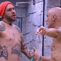 """No """"BBB18"""": Caruso e Ayrton discutem após punição e Ana Clara defende o pai: """"Para de falar"""""""