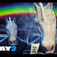 """Em """"Payday 2"""": máscara de unicórnio pra comemorar o aniversário do game"""