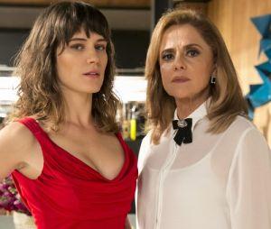 """Em """"O Outro Lado do Paraíso"""", advogado de Sophia (Marieta Severo) culpa Clara (Bianca Bin) por assassinato de Laerte (Raphael Viana)"""