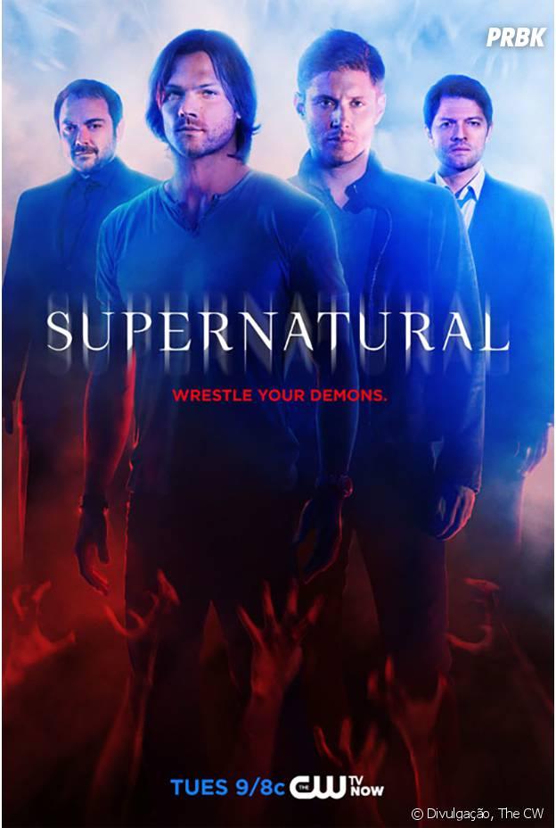 """Pôster promocional da 10ª temporada de """"Supernatural"""", série do canal The CW"""