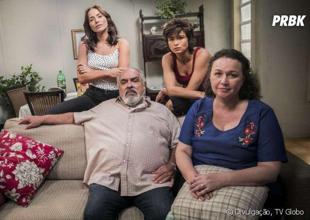 """Em """"Segundo Sol"""", Rosa (Letícia Colin) bate de frente com o pai pra defender sua mãe e irmã"""