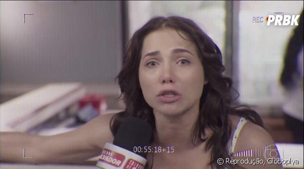 """Em """"Segundo Sol"""", Rosa (Letícia Colin) foi para a TV acusar a construtora Athayde depois da morte de Lourival"""