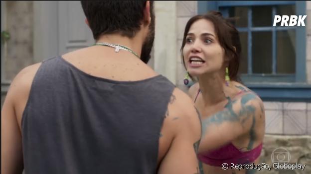 """Em """"Segundo Sol"""", Rosa (Letícia Colin) não deixa Ícaro (Chay Suede) tratá-la como propriedade"""