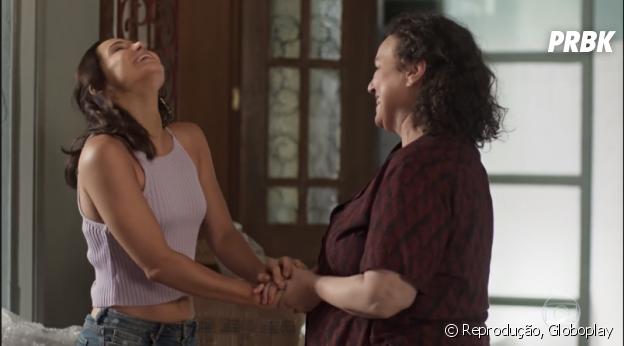 """Em """"Segundo Sol"""", Rosa(Letícia Colin) faz de tudo pra levantar a moral da mãe"""