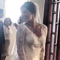 """Bruna Marquezine casada? Veja a atriz vestida de noiva para a novela """"Em Família"""""""
