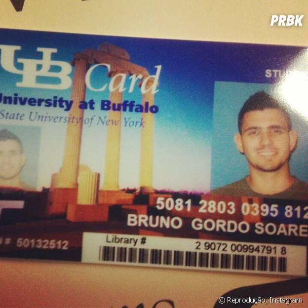 Bruno Gordo está adorando o sistema de ensino em Buffalo, nos EUA