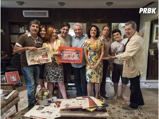 """O elenco reunido no último episódio de """"A Grande Família"""""""