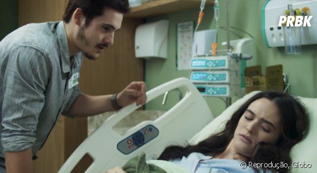 """Em """"O Tempo Não Para"""", Samucas visitou Marocas no hospital no meio da noite"""