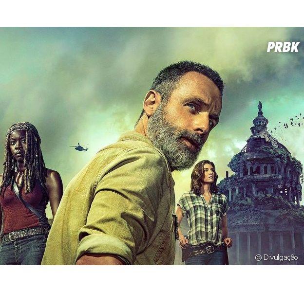 """Em """"The Walking Dead"""", Rick (Andrew Lincoln) defende-se com Lucille em novo teaser"""