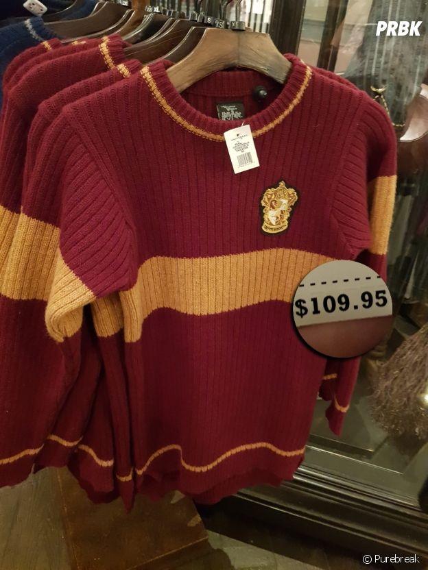 O casaco de quadribol do Harry Potter vendido em Orlando, nos EUA