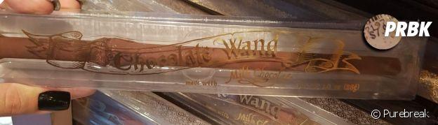Uma varinha de chocolate no parque do Harry Potter em Orlando, nos EUA