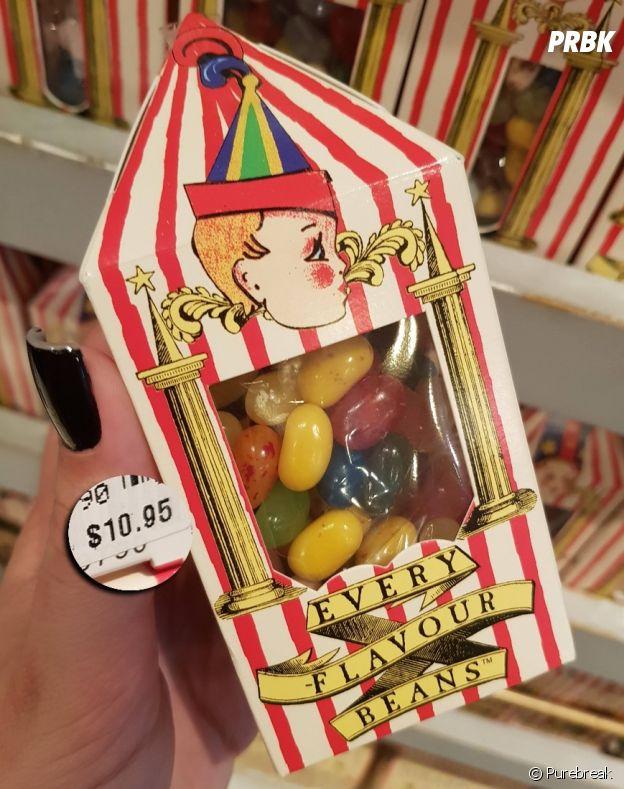 Os queridinhos feijõezinhos de todos os sabores de Harry Potter são vendidos em Orlando, nos EUA