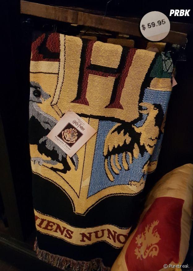 Uma manta temática pra sua cama do Harry Potter em Orlando, nos EUA
