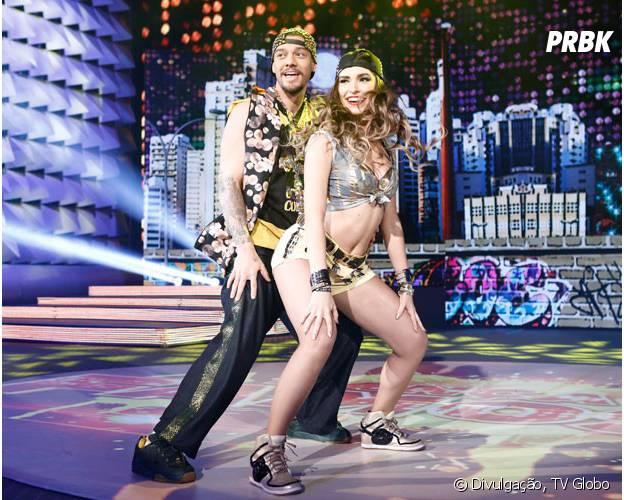 """Os jurados da """"Dança dos Famosos 2014"""" adoraram a coreografia de Lucas Lucco e Ana Paula Guedes"""