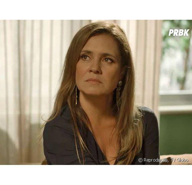 """Novela """"Segundo Sol"""":Laureta (Adriana Esteves) faz chantagem com pai de sua filha"""