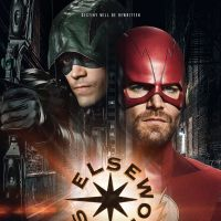 "Barry Allen e Oliver Queen inverteram uniformes em poster do crossover de ""Arrow"" e ""The Flash"""