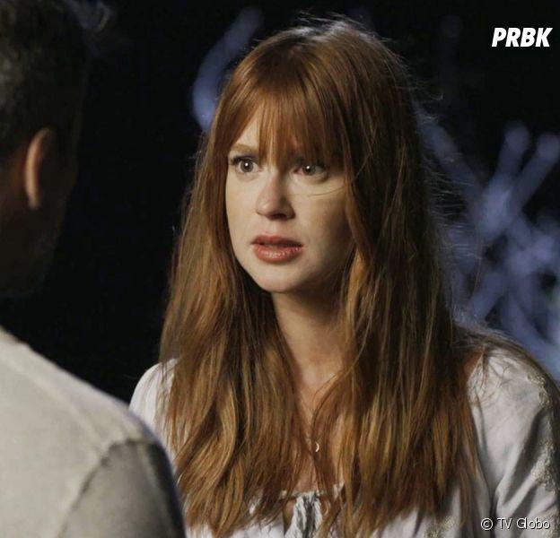 """Em """"O Sétimo Guardião"""": Luz (Marina Ruy Barbosa) descobre que Gabriel (Bruno Gagliasso) abandonou a noiva no altar"""