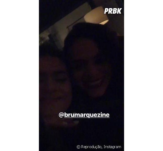 Maisa e Bruna Marquezine se encontram em Miami