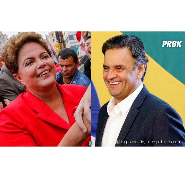Dilma Rousseff e Aécio Neves disputam os votos dos eleitores brasileiros no segundo turno das Eleições 2014