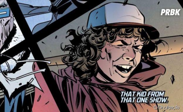 "Dustin (Gaten Matarazzo), de ""Stranger Things"" aparece em HQ da DC"