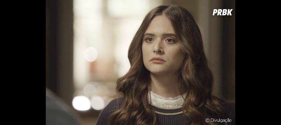 """Em """"O Tempo Não Para"""", Marocas (Juliana Paiva) decide ir com Petra (Eva Wilma) para salvar parentes"""