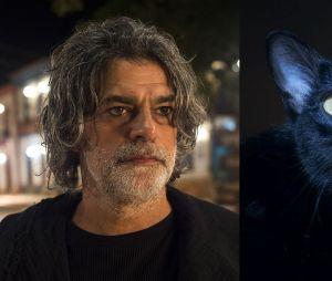 """Em """"O Sétimo Guardião"""": Leon (Eduardo Moscovis) se livra da maldição e não vai virar gato novamente"""