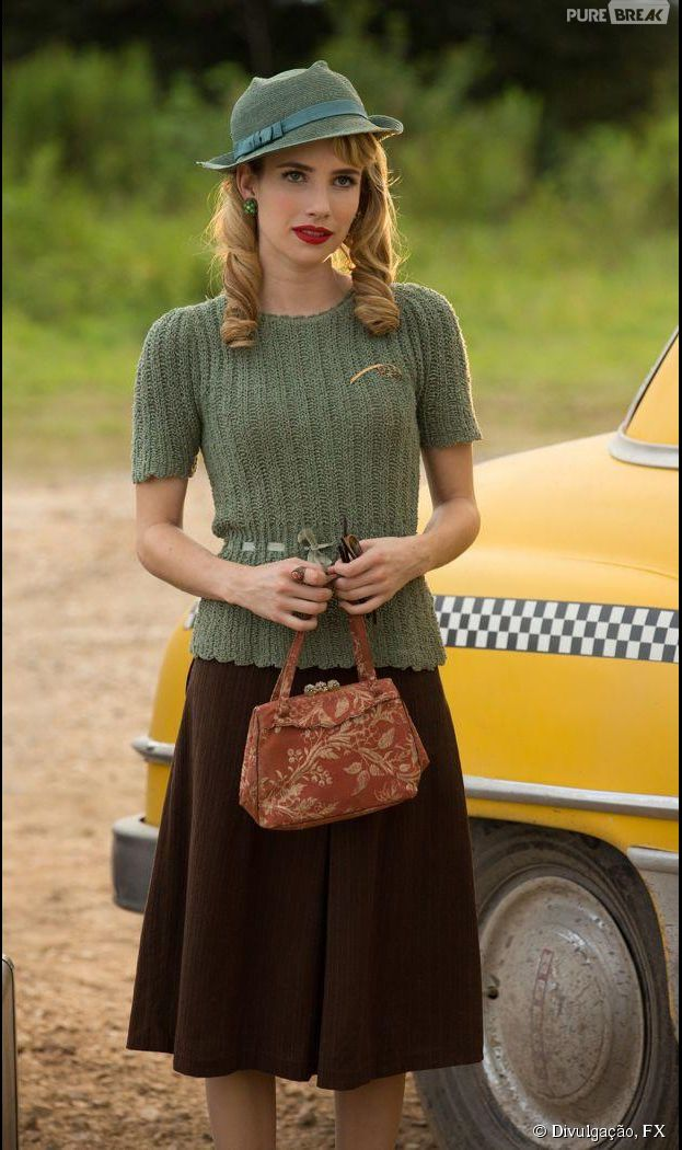 "Em ""American Horror Story: Freakshow"", Maggie (Emma Roberts) chegará ao circo de Elsa (Jessica Lange)"