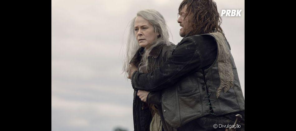 """Em """"The Walking Dead"""", Carol ( Melissa McBride)  ainda está abalada pela morte do filho"""