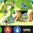 """Use as figurinhas para criar fotos divertidas em """"Pokémon Camp"""""""